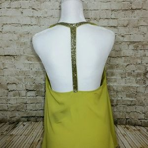 Ark and Co. Halter Beaded Sequined Racerback Top
